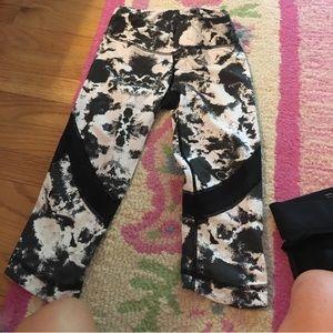 Alala Black and White Cropped Leggings